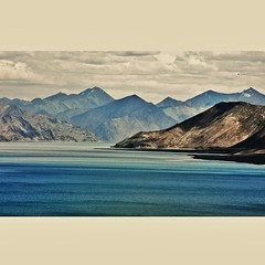 Shades of blue.Pangong Tso,Ladhak.Himalaya. (the ice age sage) Tags: india himalaya