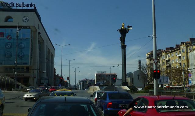 Vista desde nuestro parking en el centro de Sofía