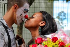 Surpresa ! (Alice de Carvalho) Tags: flower art love smile canon happy photography 50mm kiss flickr pretty arte sweet amor beijo clown surprise alegria flick cultura palhao ator