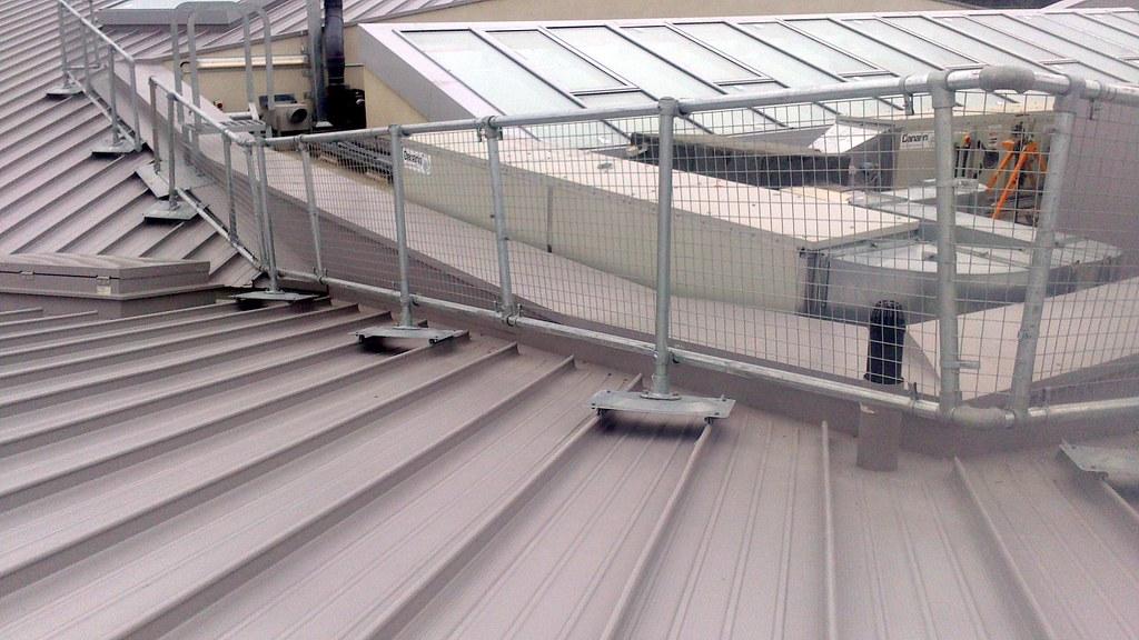 1; Metal Roof Railing