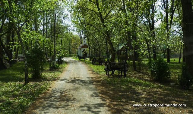 Camino de entrada al camping Mako