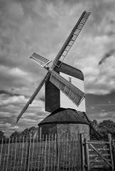 Mountnessing Mill (D600 Jim) Tags: blackandwhite bw mill windmill monochrome landscape mono nikon essex d600 postmill 2485mm mountnessing