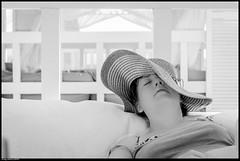 Siesta (jammybunn) Tags: light bw holiday beach turkey nikon focus soft honeymoon sleep side turkiye cabana lightroom d5100