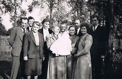 The new Family Member (TrueVintage) Tags: bw baby 1930s nostalgia oldphoto christening sw past foundphoto nostalgie taufe vergangenheit vintagephoto