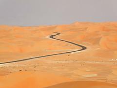 Highway in Liwa Oasis ( ), Abu Dhabi (  ) (twiga_swala) Tags: sahara landscape sand scenery desert dunes united emirates oasis arab camels emirate attractions liwa