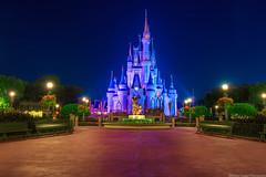 The Princess Is In This Castle (TheTimeTheSpace) Tags: colors night stars nikon long exposure disney mickey disneyworld waltdisneyworld walt hdr magickingdom partners waltdisney d800 cinderellacastle