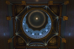 Crescent blue (Bereno DMD) Tags: blue color up colorful geometry capital crescent lookingup indoors dome inside parallax ornate hartford offcenter capitalbuiding