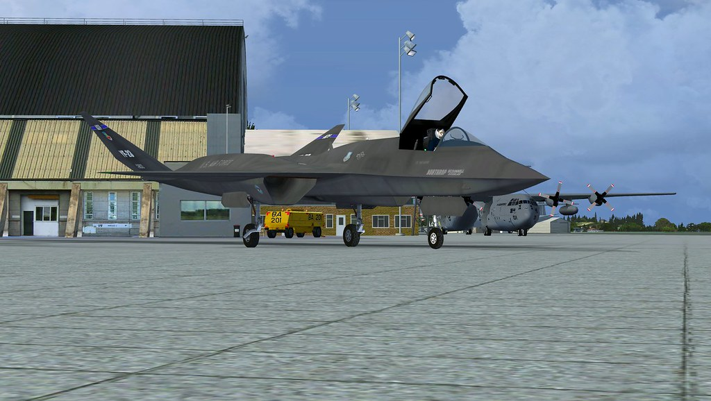 Fsx fsd northrop yf 23 black widow aircraft