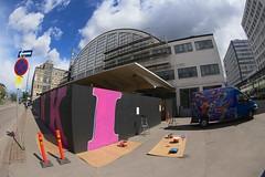 "Story Of Helsinki @ Tennispalatsi 2014 - Making of (Helsinki street art office Supafly) Tags: streetart color art graffiti helsinki colorful spray hel tennispalatsi ""street graffitiwall art"" katutaide taidemuseo helsingintaidemuseo työmaaaita storyofhelsinki"