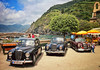 Classic Lancias in Vernazza, Italy (Randy Durrum) Tags: italy church clouds canon eos coast europe eu m vernazza cinque durrum leuropepittoresque snapseed