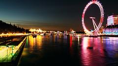 Night-lights (Antony Zacharias) Tags: light sunset reflection london silhouette millenniumwheel thames towerbridge londonbridge river cityhall stpauls londoneye parliament bigben stpaulscathedral riverthames waterreflection londonbus redbus londonsunset hdrsky riverreflection