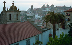 Pr do Sol (Procrastixote) Tags: sunset portugal church 35mm canon lens eos rebel catholic kodak g olympus palm porto 400 portra zuiko tripeiro portense