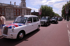 London Taxis on the Mall