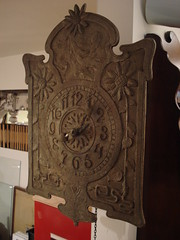 """HEAVY ART NOUVEAU WALL CLOCK. • <a style=""""font-size:0.8em;"""" href=""""http://www.flickr.com/photos/51721355@N02/14413546232/"""" target=""""_blank"""">View on Flickr</a>"""