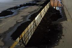 Omgekeerde wereld (Tim Boric) Tags: brussels puddle bruxelles brussel plas goodsstation freightstation tourtaxis goederenstation garemarchandises
