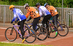 Coiled Springs (Feversham Media) Tags: cycling sheffield yorkshire greenhill sportsaction southyorkshire meadowhead britishcycling cyclespeedway poolecyclespeedway gravesleisurecentre sheffieldcyclespeedway