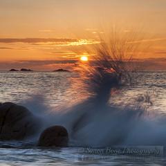 Final wave (Simon Bone Photography) Tags: sunset sea sky cloud sun beach silhouette sand cornwall waves break crash wave final splash cornishcoast portheras cornishsunsets canoneos5dmkii hitechnd09reversegrad wwwsimonbonephotographycouk canonef24105mmislf4