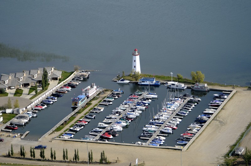The town of Sylvan Lake marina