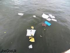 Polluted River Mandovi (joegoaukdirtypanjim9) Tags: river goa pollution rubbish panjim mandovi joegoauk