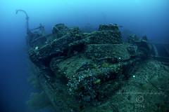 Truk Lagoon 2014 066 0296 San Francisco Maru foredeck tanks (tdpriest) Tags: world two japanese war underwater pacific truk shipwrecks select wrecks underwaterphotography chuuk