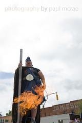 Fire on the Pole! (Paul McRae (Delta Niner)) Tags: fire costume colorado flames trinidad co dancefloor artcar dragonfire kingfergus artocade