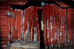 North Korea's Firewall (hutchphotography2020) Tags: barn nikon gate peelingpaint weatheredwood firewall chippedpaint barndoor hinges rottenwood