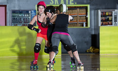 Rainier Roller Girls - June 24, 2014 Scrimmage (Eric Von Flickr) Tags: seattle city girls white girl washington women rat track flat skating center skaters skate roller derby skates wftda