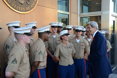 Secretary Kerry Thanks the Marine Security Guard Detachment at Embassy Baghdad (U.S. Department of State) Tags: iraq baghdad johnkerry