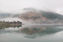 Zaovine Lake Morning Mist (Irene Becker) Tags: morning fog landscape day serbia balkan srbija taramountain zaovine zaovinskojezero bajinabašta westserbia zlatibordistrict nacionalniparktara zaovinelake imagesofserbia branalazići serbianlandscapes irenebeckereu branalazici