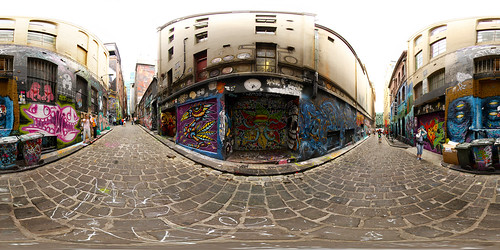 Melbourne Graffiti Panorama