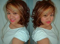 new me (doseofdesire) Tags: hello new brown cute hairdye girl smile hair asian happy pretty random lol bored curly blonde hi newhair selfie