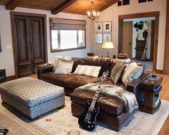 (deanmackayphoto) Tags: door wood light lamp vintage guitar antique ceiling livingroom pillow couch sofa ottoman renovation decor fixture cowboyhat interiordesign endtable