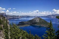 Crater Lake National Park (Bryan the Roving Vagabond) Tags: park summer lake clouds oregon national crater