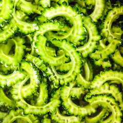 20140724_01_green (jam343) Tags: green square vegetable bittergourd goya bittermelon iphone ゴーヤ ニガウリ iphoneography