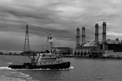 Arthur Kill (nyperson) Tags: blackandwhite industry kirby smokestacks tugboat taurus arthurkill workingharbor