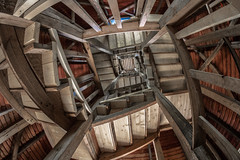 """My """"Stairwell"""" Photo (e_impact) Tags: wood red summer tower tourism finland observation fisheye staircase observationtower clich northerneurope kangasala woodbuilding vehoniemi 815mm vehoniemennktorni"""