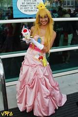 Princess Peach (V Threepio) Tags: mushroom costume outfit sandiego cosplay modeling posing dressup mario comiccon comicconvention geekculture geekgirl sdcc princesspeach sdcc2014