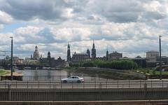 Dresden City (philipp h.) Tags: old city bridge church water train river dresden zwinger wasser zug brcke fluss altstadt frauenkirche elbe marienbrcke