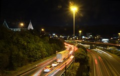 Coming and going in Auckland. (Shawn Sijnstra) Tags: auckland lighttrails