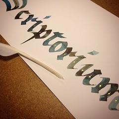 upload (La Stanza di Wendy) Tags: square handmade squareformat calligraphy calligrafia gotico fattoamano handwriter iphoneography instagramapp silviamandelli