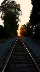 The Journey (riichelly) Tags: california sunset beach santabarbara train afternoon traintracks destination journy