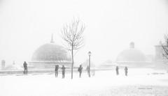 Fotoğrafçılar (Celalettin Güneş) Tags: winter istanbul turkey blackandwhite snow art monochrome human suleymaniye siyahvebeyaz photographers