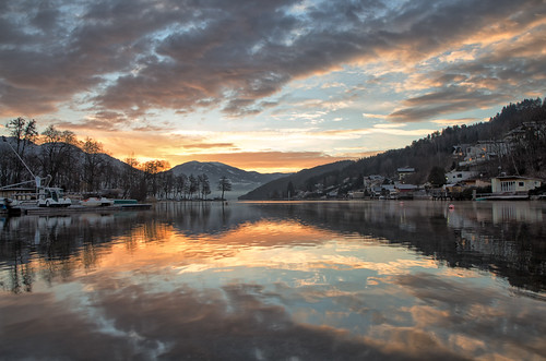 Austrian Lake at Sunrise
