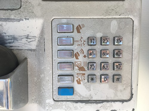 Keypad of Telmex pay phone