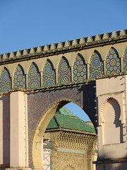 Mausoleum of Moulay Ismail through arch of Bab Moulay Ismail, Meknes, Morocco (Paul McClure DC) Tags: meknes morocco almaghrib jan2017 meknès historic architecture