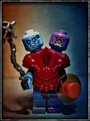 Two-Bad (LegoKlyph) Tags: lego custom cartoon heman skeletor grayskull twobad twins evil monster motu masters universe 80s retro mattel filmation