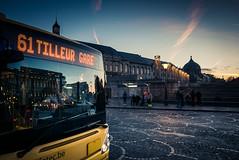 Morning Reflection /Reflet matinal... (Gilderic Photography) Tags: liege belgium belgique belgie city morning bus reflection panasonic lx100 gilderic