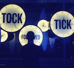 As time goes by (@ Karin) Tags: clocks time ticktock sign blue timeflies museum dublin guiness