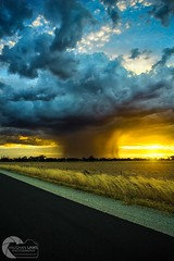 MAGIC LIGHT (Vaughan Laws Photography | www.lawsphotography.com) Tags: rain rainshaft sunset stormchasing victoria australia beautiful light color canon6d landscape lawsphotography vaughanlaws vaughanlawsphotography magiclight microburst convection country