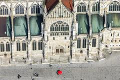 Gothic Architecture (Aerial Photography) Tags: by opf r 06042010 1ds40663 6938001 altstadt dom domplatz fenster fotoklausleidorfwwwleidorfde gotik kirche kirchentür luftaufnahme luftbild regensburg regensburgerdom sonnenschirm aerial church gotisch outdoor redpoint roterpunkt bayernbavaria deutschlandgermany deu